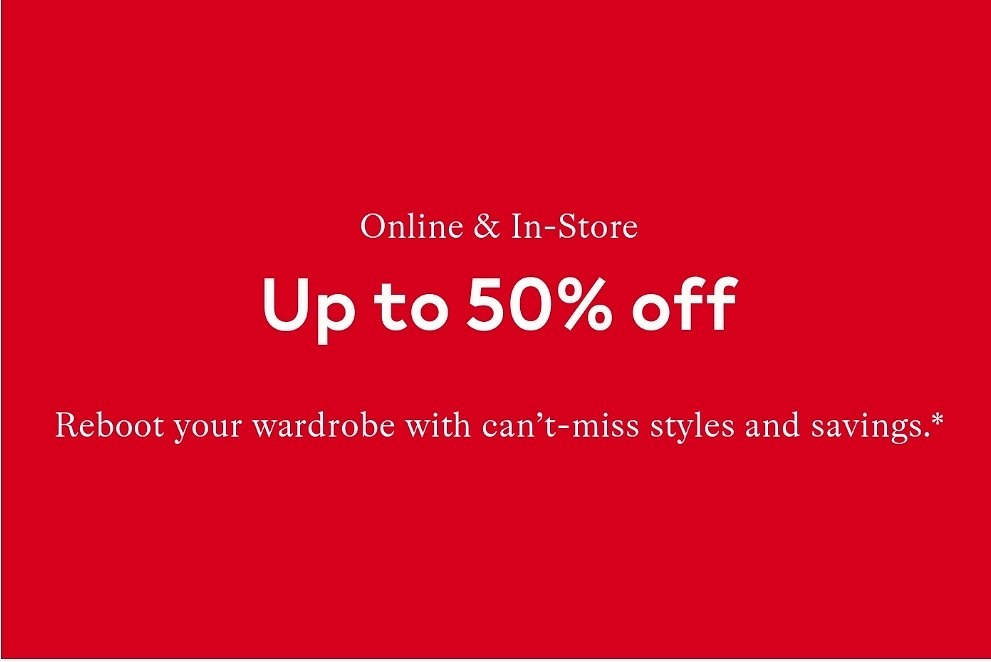 Up To 50% Off Select Styles Sale - H&M