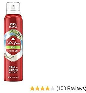Old Spice Dry Shampoo for Men, Fiji Scent, Hair Treatment, 4.9 Oz