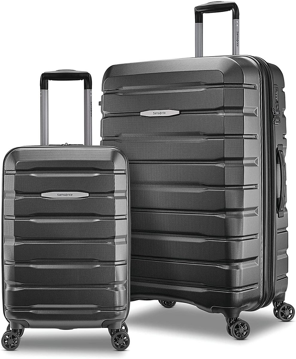 Samsonite Tech 2.0 Hardside Expandable Luggage with Spinner Wheels, 2-Piece Set (21/27), Dark Grey