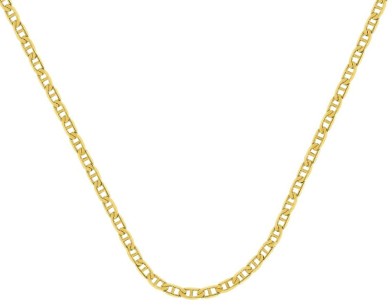 Solid 10K Gold Mariner Gucci Chain Necklace