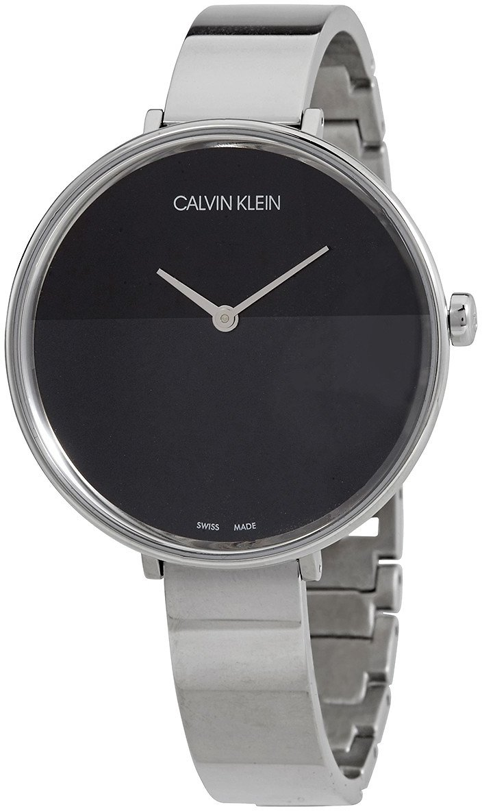 Calvin Klein Rise Quartz Black Dial Ladies Watch (F/S)