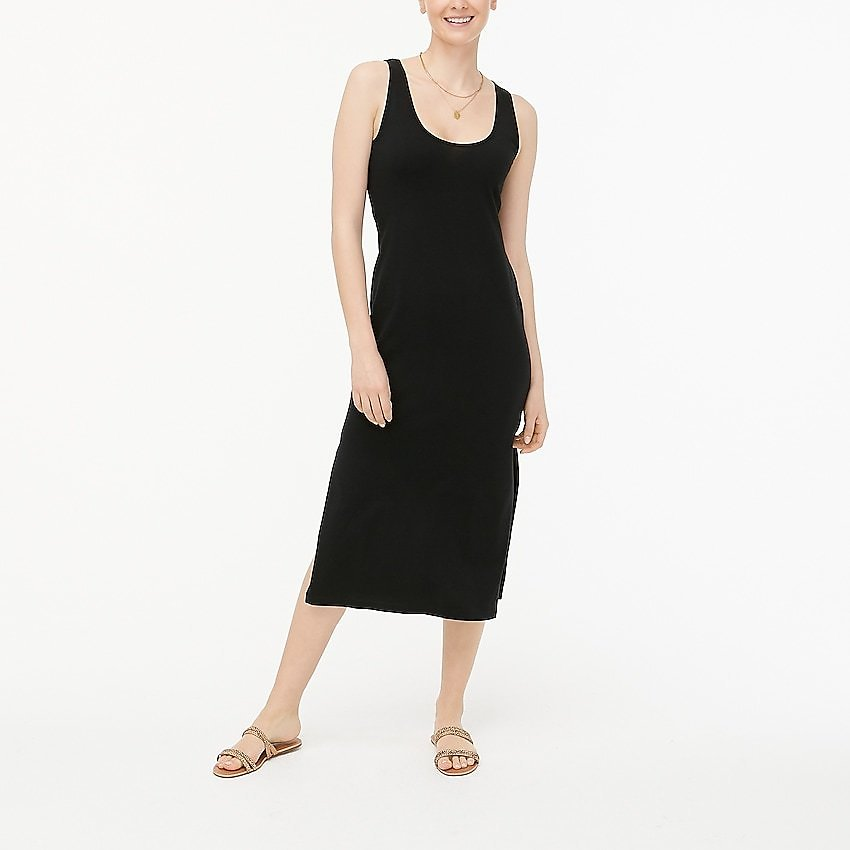 J.Crew Factory: Sleeveless Knit Midi Dress For Women