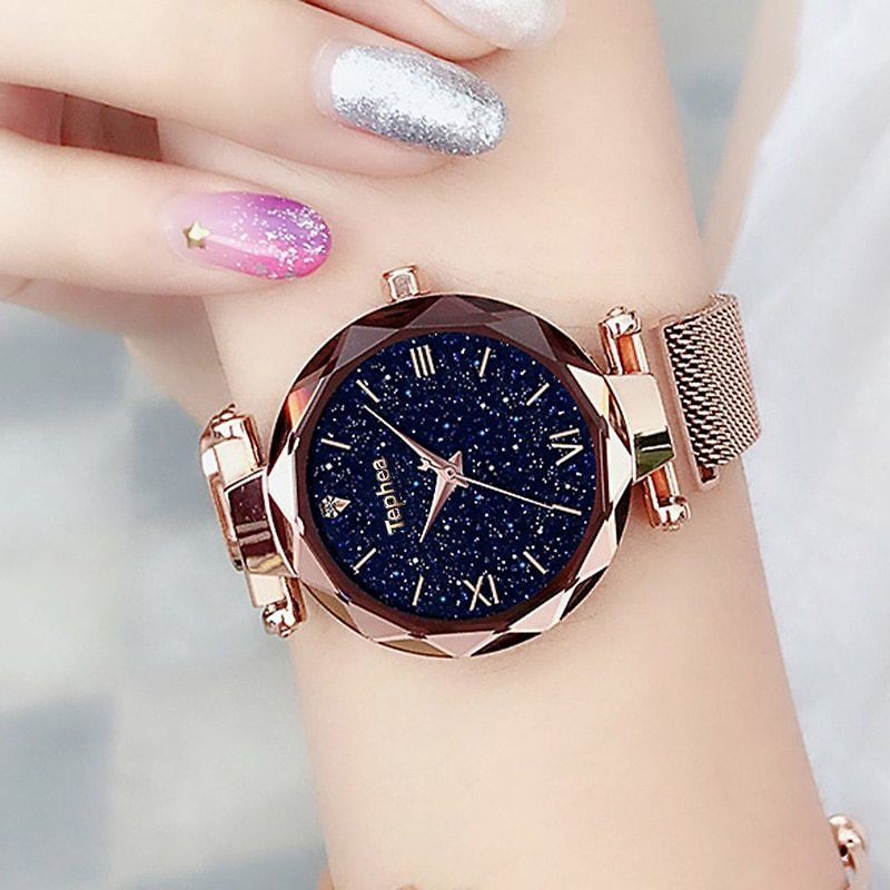 US $2.24 30% OFF|Watches Women's Luxury Magnetic Starry Sky Woman Clock Quartz Wristwatch Fashion Ladies Wristwatch Reloj Mujer Relogio Feminino|Women's Watches| - AliExpress