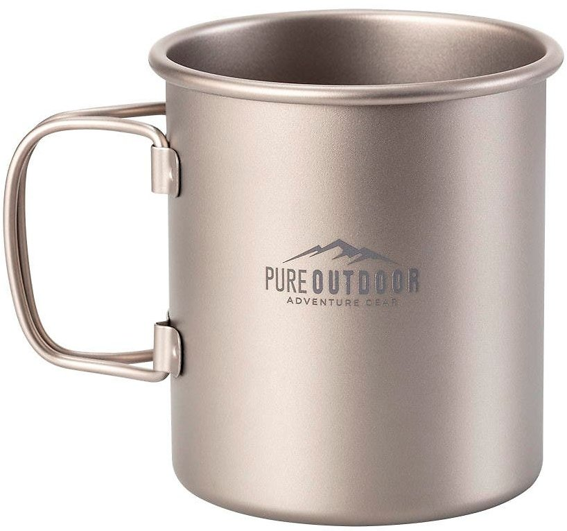 Pure Outdoor Titanium 450ml Single Wall Cup