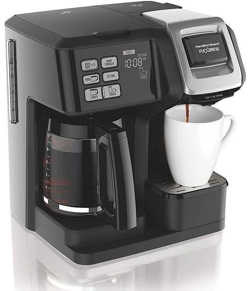 Hamilton Beach FlexBrew Coffee Maker, Single Serve & Full Pot