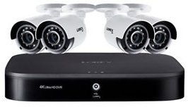 Lorex 8 Channel 4K DVR with 2TB Hard Drive and 4 4K Cameras with Voice Control Features - Sam's Club
