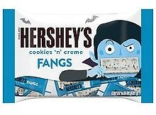 2 for $2.98 Hershey's Cookies 'N Creme Fangs Snack Size Halloween Candy Bag
