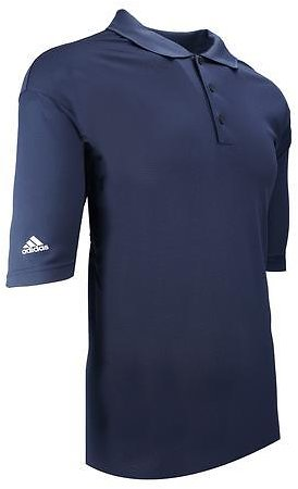 Adidas Men's ClimaLite Short Sleeve Polo Navy/White 4XL