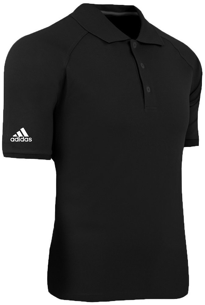 Adidas Men's ClimaLite Blended Pique Polo Black/White 3XL
