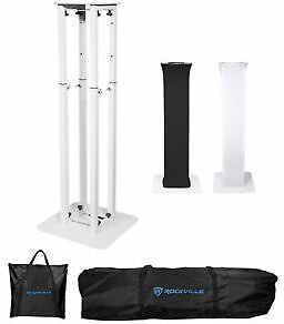 66% Off for (1) Rockville RTP32W Totem Moving Head Light Stand+Black+White Scrims+Carry Bags