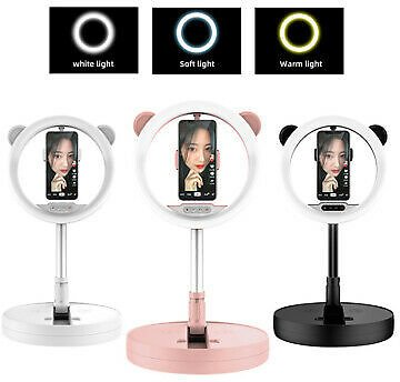 Telescopic Dimmable LED Ring Fill Light Stand Selfie Live Lamp Makeup Fill Light
