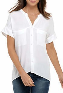THE LIMITED Women's Dolman Sleeve Button Up Top