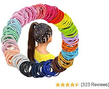 200 Pieces Multicolor Baby Girls Hair Ties Elastic Hair Bands Ponytail Holders Headband Hair Accessories for Baby Girls Infants Toddlers(Diameter 2.5 Cm)