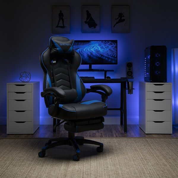 Game Chair - Faux Leather - Blue