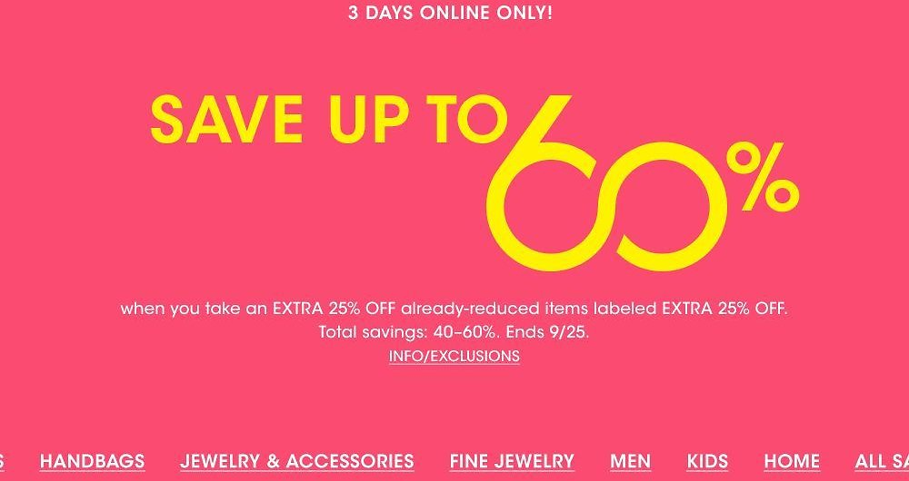 3-Days Only! Up To 60% Off Clearance Sale - Bloomingdales
