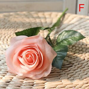 Real Touch Rose Artificial Silk Flowers Peony Bridal Wedding Bouquet Home DecoZT