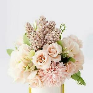 13 Heads Real Touch Artificial Silk Flowers Bridal Wedding Bouquet Home Decor S