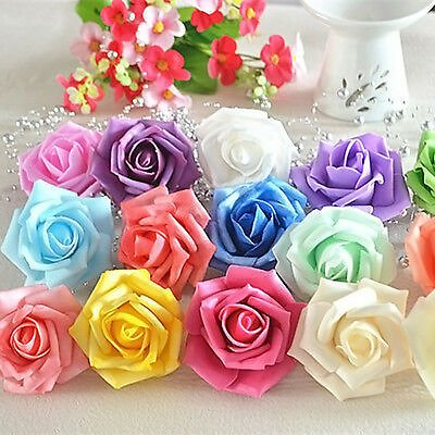 10 Pcs/pack Pretty Head Real Latex Rose Flowers For Wedding Bouquet