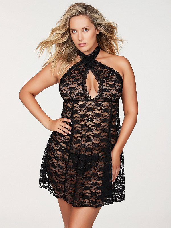 Margarita Floral Lace Plus Size Babydoll
