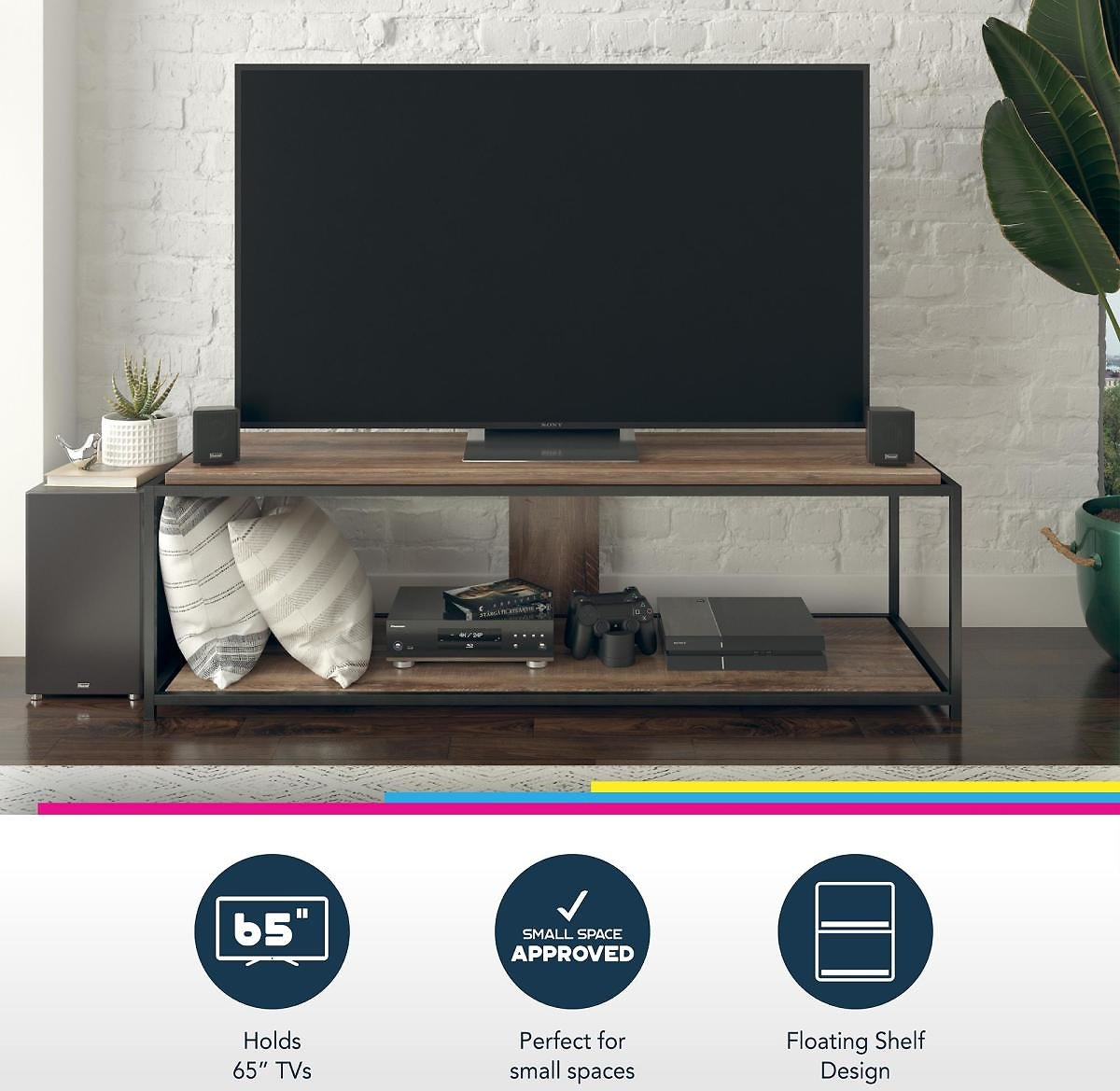 Queer Eye Quincy Transitional TV Stand for TVs Up to 65