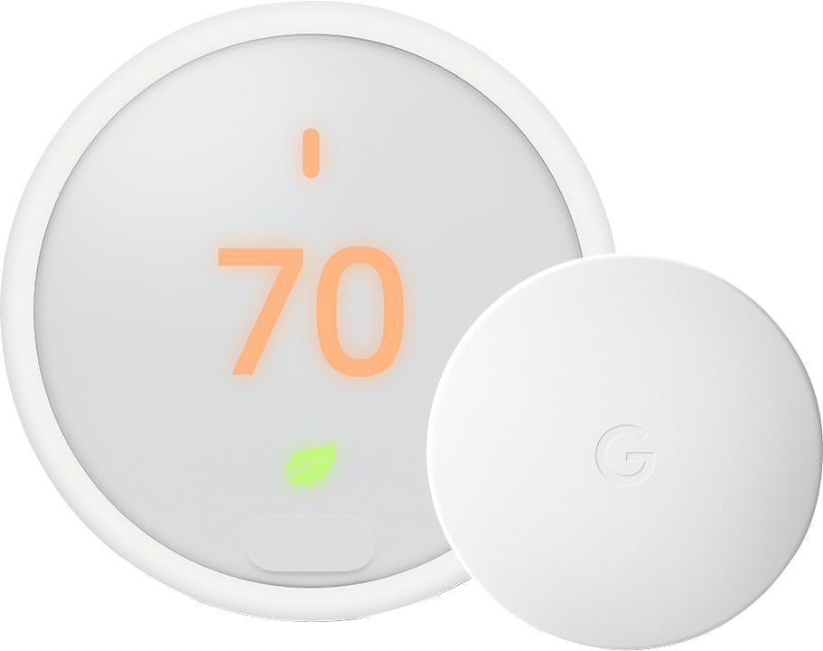 Google Nest Thermostat E with Temperature Sensor White BH1254-US