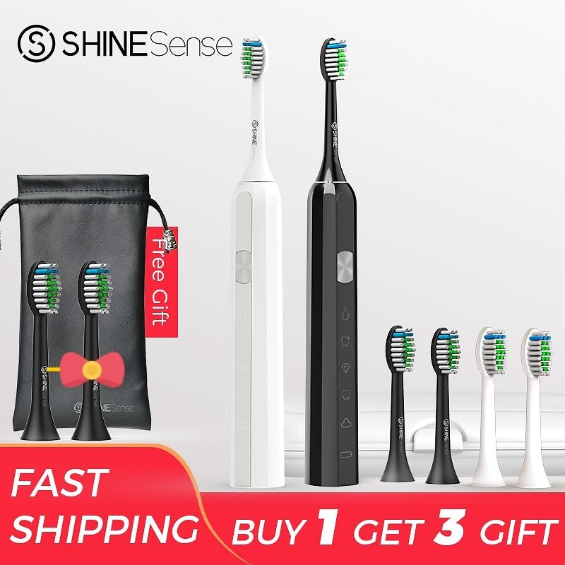 US $35.93 66% OFF|ShineSense STB600 Sonic Toothbrush Electric Toothbrush Adult Brush Fast Rechargeable Waterproof with Travel Box for Xiaomi Mijia|Electric Toothbrushes| - AliExpress