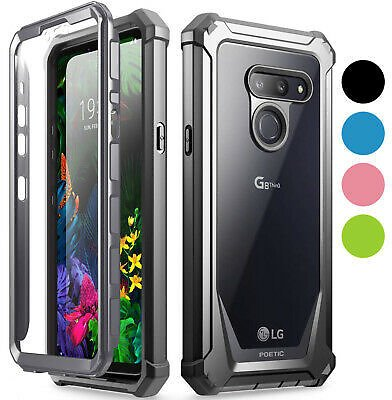 LG G8 ThinQ Rugged Clear Case,Poetic Hybrid Shockproof Bumper Cover