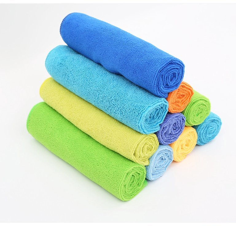 Microfiber Cleaning Cloth - Pack of 6, Multi-Functional Cleaning Towels