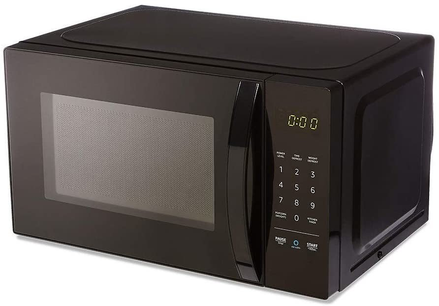 Microwave By AmazonBasics, Small, 0.7 Cu. Ft, 700W, Works with Alexa