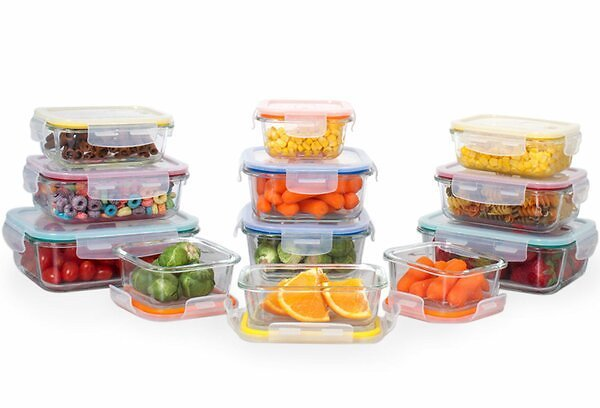 Eatman Glass Meal Prep 12 Container Food Storage Set