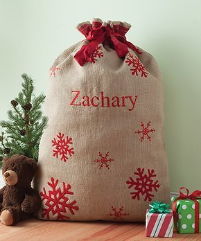 Personalized Planet Burlap Santa Sacks (Mult Styles)