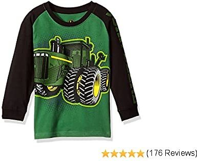 John Deere Boys' Long Sleeve Raglan Tee