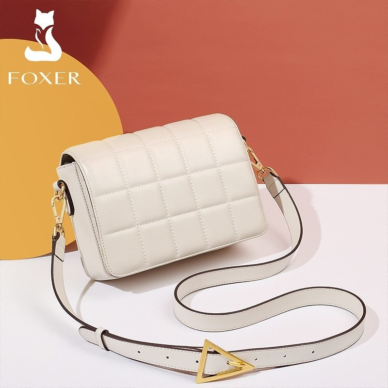 US $49.27 54% OFF|FOXER 2020 Fashion Girl Cow Leather Designer Small Shoulder Cross Body Bags for Women Padded Bag Casual Flap Messenger Bag|Shoulder Bags| - AliExpress
