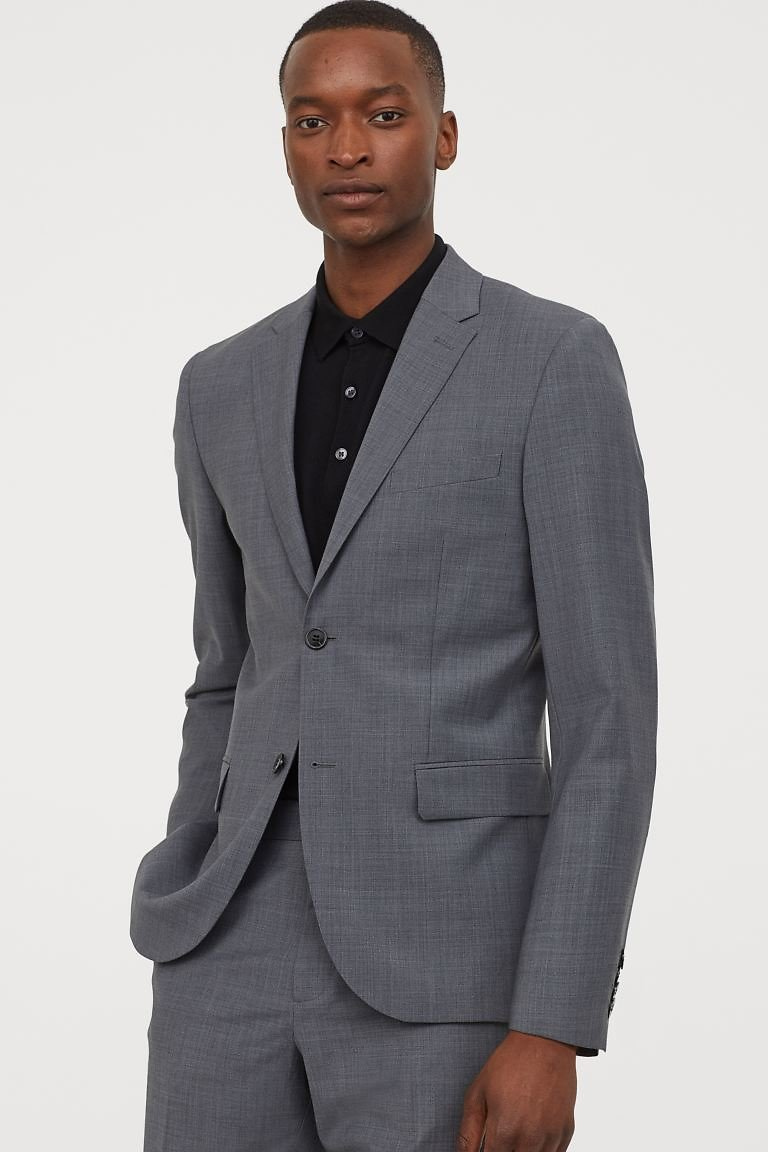 Slim Fit Wool-blend Blazer - Dark Gray - Men | H&M US