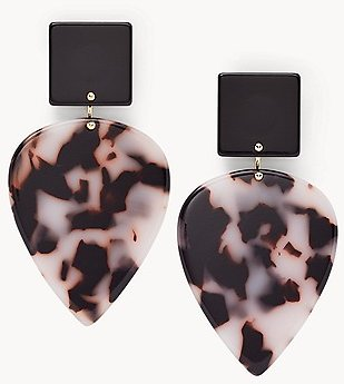 Teardrop Snow Leopard Earrings - JA7014710 - Fossil