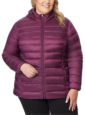 32 Degrees Plus Size Hooded Packable Water-Resistant Puffer Coat, Created for Macy's & Reviews - Coats - Plus Sizes