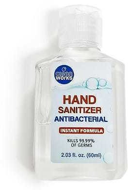 Clean Works Hand Sanitizer, 75% Alcohol - 2.03 Oz