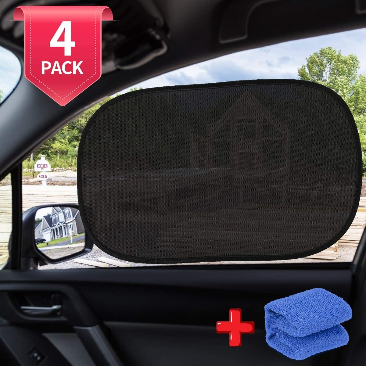 Car Window Shade, Automotive Interior Sun Protection Car Window Shade for Baby Cling Sunshade for Side Windows 99% UV Rays Prote