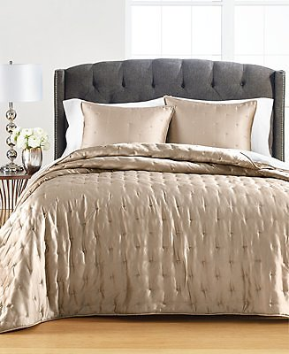 Martha Stewart Collection Tufted Satin Twin Quilt