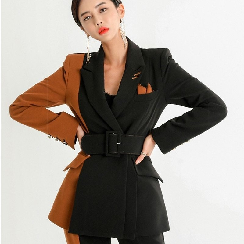 US $38.33 41% OFF|2020 New Women Office Lady Pant Suits High Quality OL Blazer Suit Coat With Ankle Length Trouser Set Blazer Suit Two Pieces Set|Pant Suits| - AliExpress