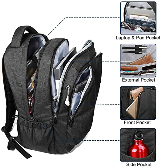 15.6 Inch Laptop Backpack Large Travel Bag