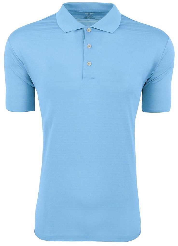 Adidas Men's Climalite Textured Short Sleeve Polo Tide L