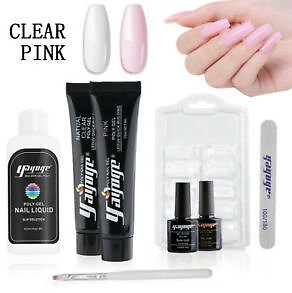 Details About YAYOGE Poly Gel Set UV Acrylic Gel Nail Extension DIY Nail Starter Kits Gel UK