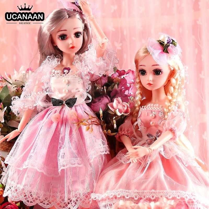 US $18.4 77% OFF|UCanaan BJD Doll,1/4 SD Dolls 18inch 18 Ball Jointed Dolls with Clothes Outfit Shoes Wig Hair Makeup Best Gift for Girls|Dolls| - AliExpress