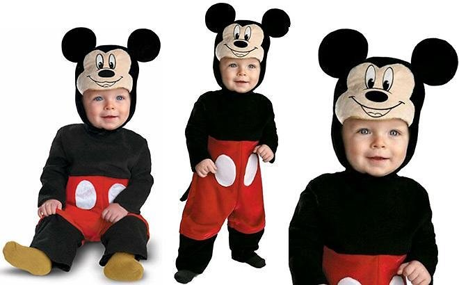 Disguise Disney Mickey Mouse Deluxe Infant Halloween Costume