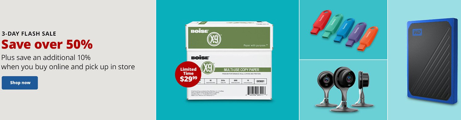 Save Over 50% + Extra 10% Off 3-Day Flash Sale - Officedepot