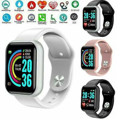 Bluetooth Smart Watch IP67 Heart Rate Blood Pressure Tracker For IPhone Samsung