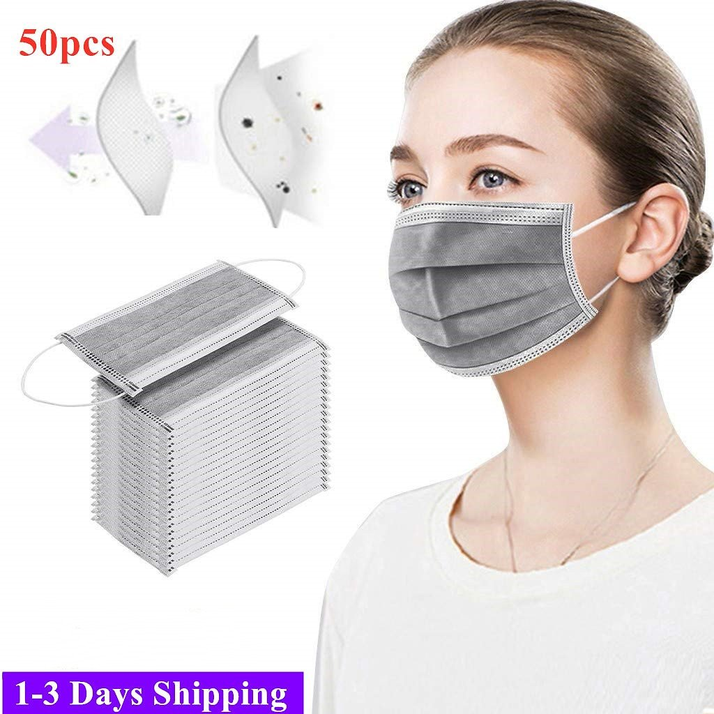 3-Layer Anti-fog Disposable Masks Industrial Protective Dustproof PM2.5 Face Mask Anti Particulate Respirator Non-Medical