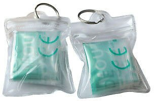 100 X CPR Mask One Way Valve Face Shield For First Aid Training In PVC Bag