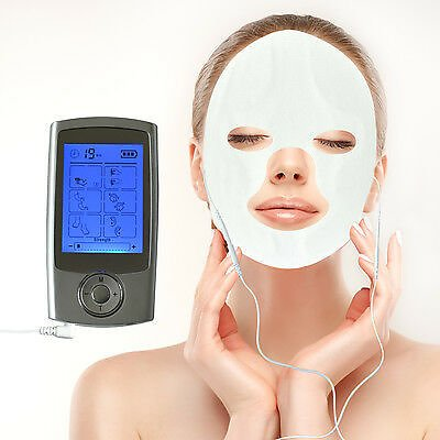 16 Program Electrode Pulse Therapy TENS EMS Massager+Massage Face Eye Masks